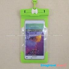 ซองกันน้ำโทรศัพท์ จอใหญ่ 5.2-6.4 นิ้ว สีเขียว Tteoobl T-26G ราคา 240 บาท