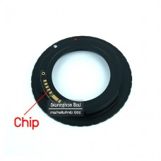 Adapter M42 to EOS AF Confirm Chip มีชิปช่วยโฟกัส