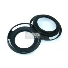 Hood 40.5mm ทรง Leica สีดำ Hood เลนส์ Kit Sony A5100