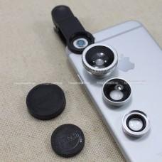 เลนส์มือถือ Universal Clip Lens 3 in 1 (มีภาพตัวอย่าง) ราคา 85 บาท