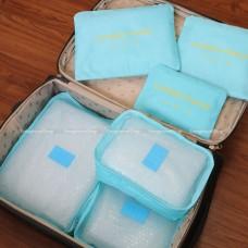 ชุดกระเป๋าตาข่าย ถุงผ้า 6 ชิ้น สำหรับใส่เสื้อผ้า ของใช้เดินทาง