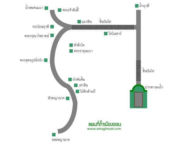 แผนที่ถ้ำเมืองออน