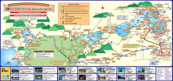 แผนที่ทะเลสาบคาวากูจิโกะ